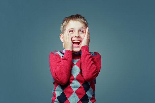 happy excited child