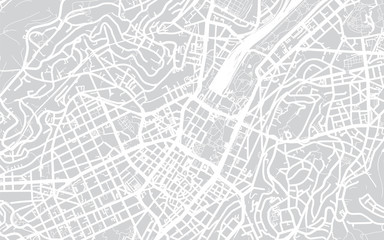 Vector city map of Stuttgart, Gernamy