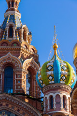 Temple of the Savior on Blood - close-up view, St. Petersburg, Russia