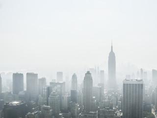 new york under fog