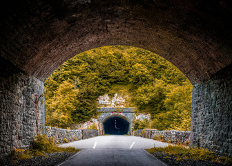 Tunnel after tunnel - Peak district, Monsal Dale (Great Britain)