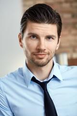Portrait of handsome businessman