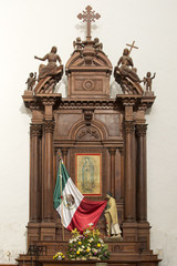 Shrine commemorating virgin Mary and Mexico