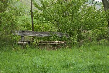 Alte Holzbank