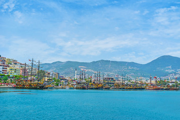 The tourist fleet of Alanya