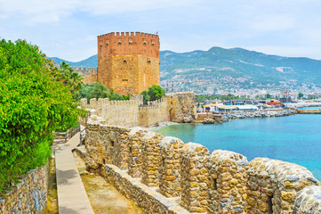Tourist route in Alanya fortress Fototapete