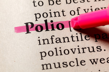 Wall Mural - definition of Polio