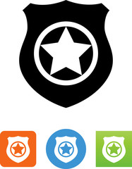 Badge With Star Icon - Illustration