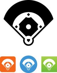Baseball Diamond Icon - Illustration