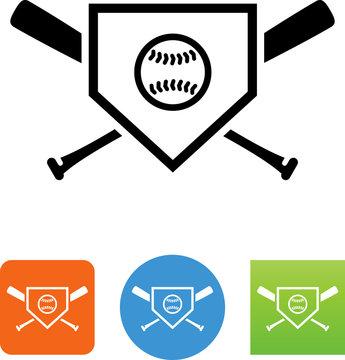 Baseball Logo Icon - Illustration