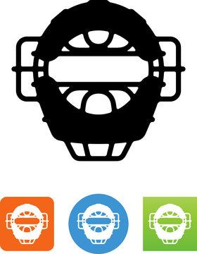 Baseball Mask Icon - Illustration
