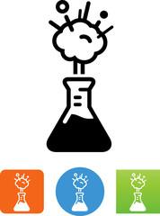 Beaker Exploding Icon - Illustration
