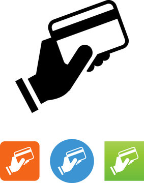 Buying With A Credit Card Icon - Illustration