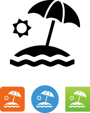Beach Icon - Illustration