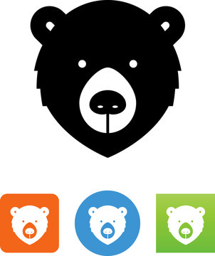 Bear Face Icon - Illustration