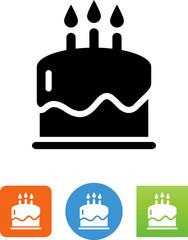 Birthday Cake Icon - Illustration