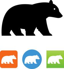 Black Bear Icon - Illustration