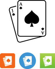 Blackjack Icon - Illustration