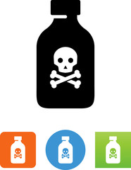 Bottle Of Poison Icon - Illustration