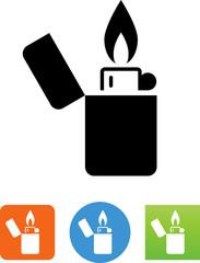 Butane Lighter Icon - Illustration