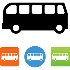 Bus Side View Icon - Illustration