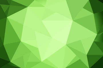 abstract triangles green gradient for background. geometric style