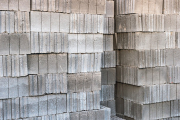 Gray bricks stock.