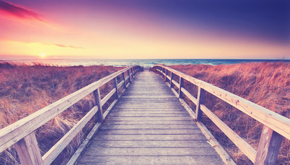 romantischer Sommerabend am Meer