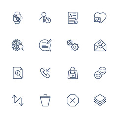 User different Interface Icons