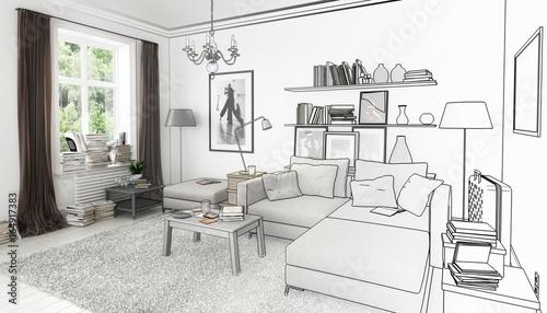 Bucher Im Wohnzimmer Einrichtung Und Dekoration Entwurf