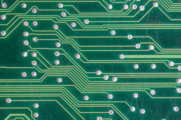 Copper tracks on the printed circuit board