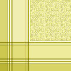 Green plaid with circles design