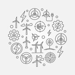 Wind energy circular illustration