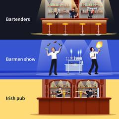 Cocktail People Banner Set
