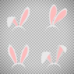 Easter bunny ears mask set