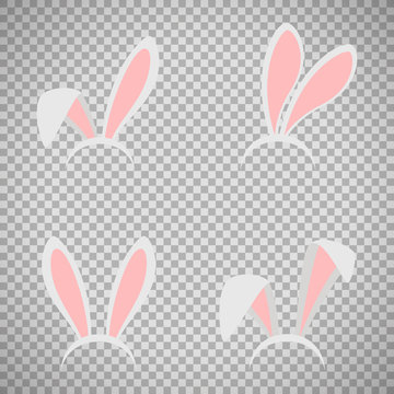 Easter bunny ears mask set