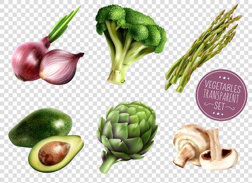 Vegetables Transparent Set