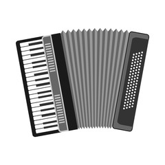 Accordion, musical instrument, accordion icon