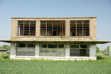 disused military airfield control tower, Catfoss, east yorkshire
