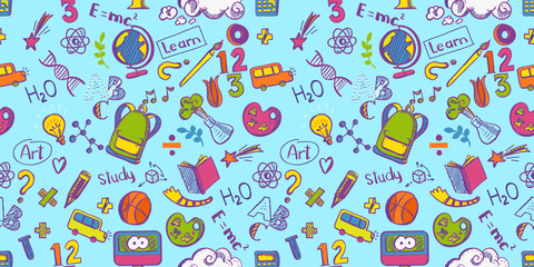 Education seamless colorfull pattern