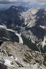Wimbachgries valley seen from the Watzmann ridge