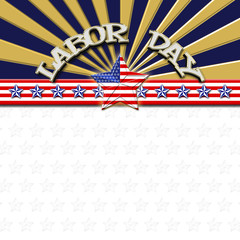 Labor Day, American Flag designed Stars, 5 pointed stars with the the Amarican Blue, Red and white, Stars and stripes, isolated against the white background.