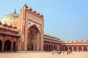 Courtyard of Jama Masjid in Fatehpur Sikri, Uttar Pradesh, India