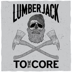 Monochrome Lumberjack Poster