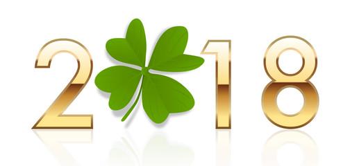 2018 - chance - trèfle - porte-bonheur - bonheur - trèfle à 4 feuilles