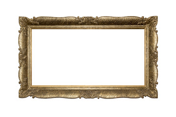 Vintage frame isolated on white background.