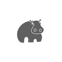 Hippo silhouette vector