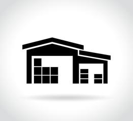 warehouse icon on white background