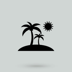 Palms Icon Vector.