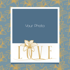 Photo frames collage vector illustration